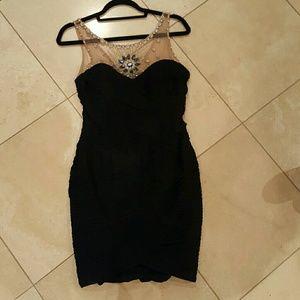 Illusion cocktail dress